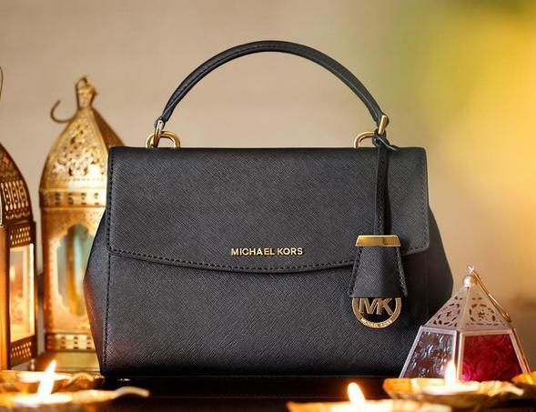 MICHAEL Michael Kors 'Medium Ava' Saffiano Leather Satchel