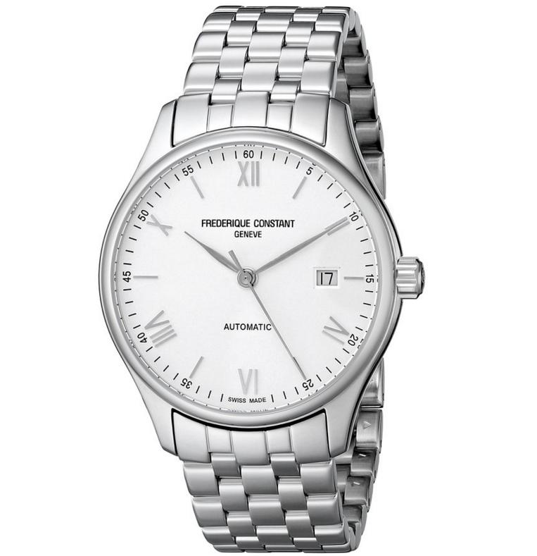 Lowest price! Frederique Constant Men's FC303WN5B6B Index Analog-Display Swiss Automatic Silver-Tone Watch