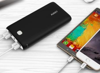Aukey PB-N15 20000mAh Portable Charger External Battery Power Bank with AIPower Tech for USB Powered Devices