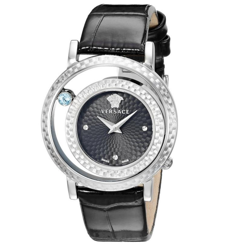 Lowest price! Versace Women's VDA010014 Venus Stainless Steel and Topaz Watch