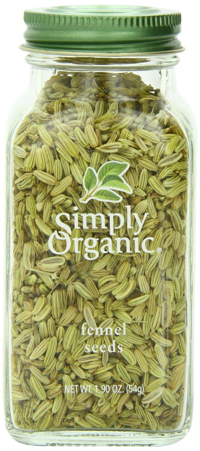$3.54 Simply Organic Fennel Seed, 1.9 Ounce