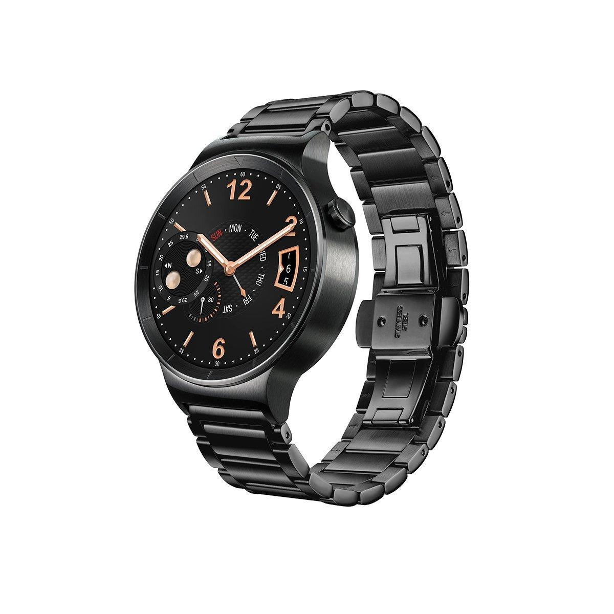 Lowest price! $319.99 Huawei Watch Black Stainless Steel with Black Stainless Steel Link Band (U.S. Warranty)
