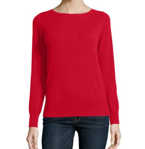 Neiman Marcus Cashmere Collection Long-Sleeve Bateau-Neck Cashmere Top @ Neiman Marcus