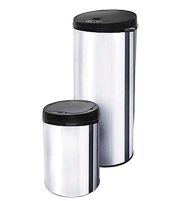 ModernHome Motion Activated Stainless Steel Trash Cans, Set of 2