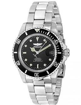 Invicta Men's Pro Diver Automatic Stainless Steel Black Dial Coin-Edge Bezel Watch(Dealmoon Exclusive)