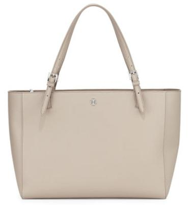 Tory Burch York Saffiano Leather Tote Bag French Gray @ Neiman Marcus