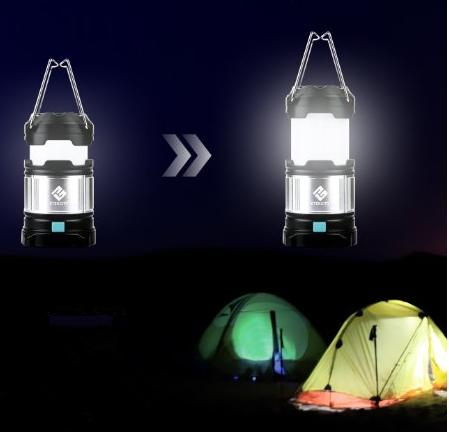 Etekcity Portable Rechargeable LED Camping Lantern Flashlights