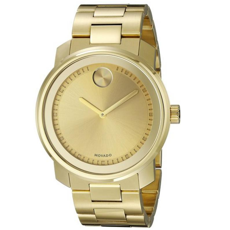 Lowest price! Movado Men's Swiss Quartz Gold-Tone Watch