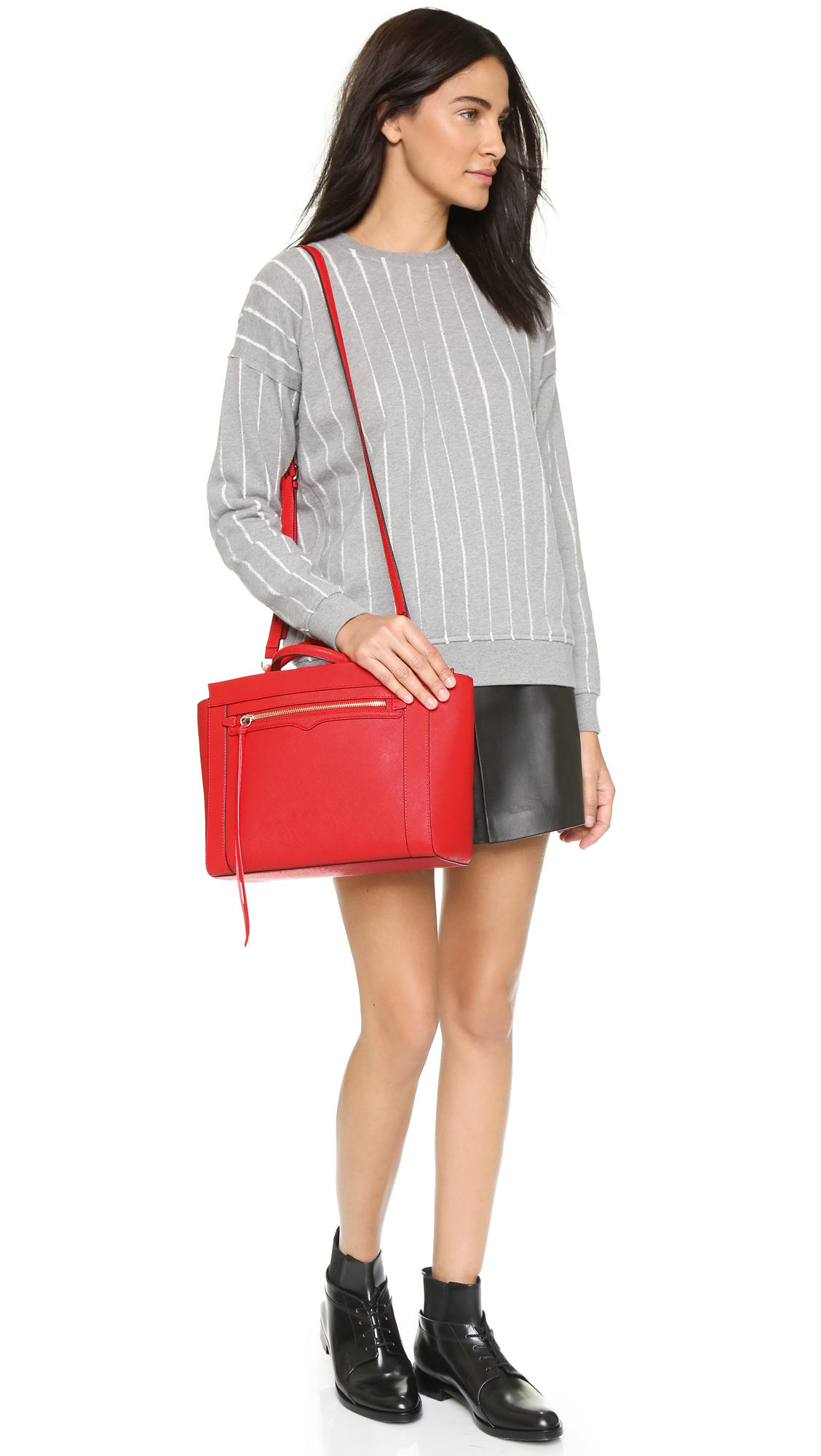 Rebecca Minkoff Small Monroe Leather Tote Bag @ Saks Off 5th