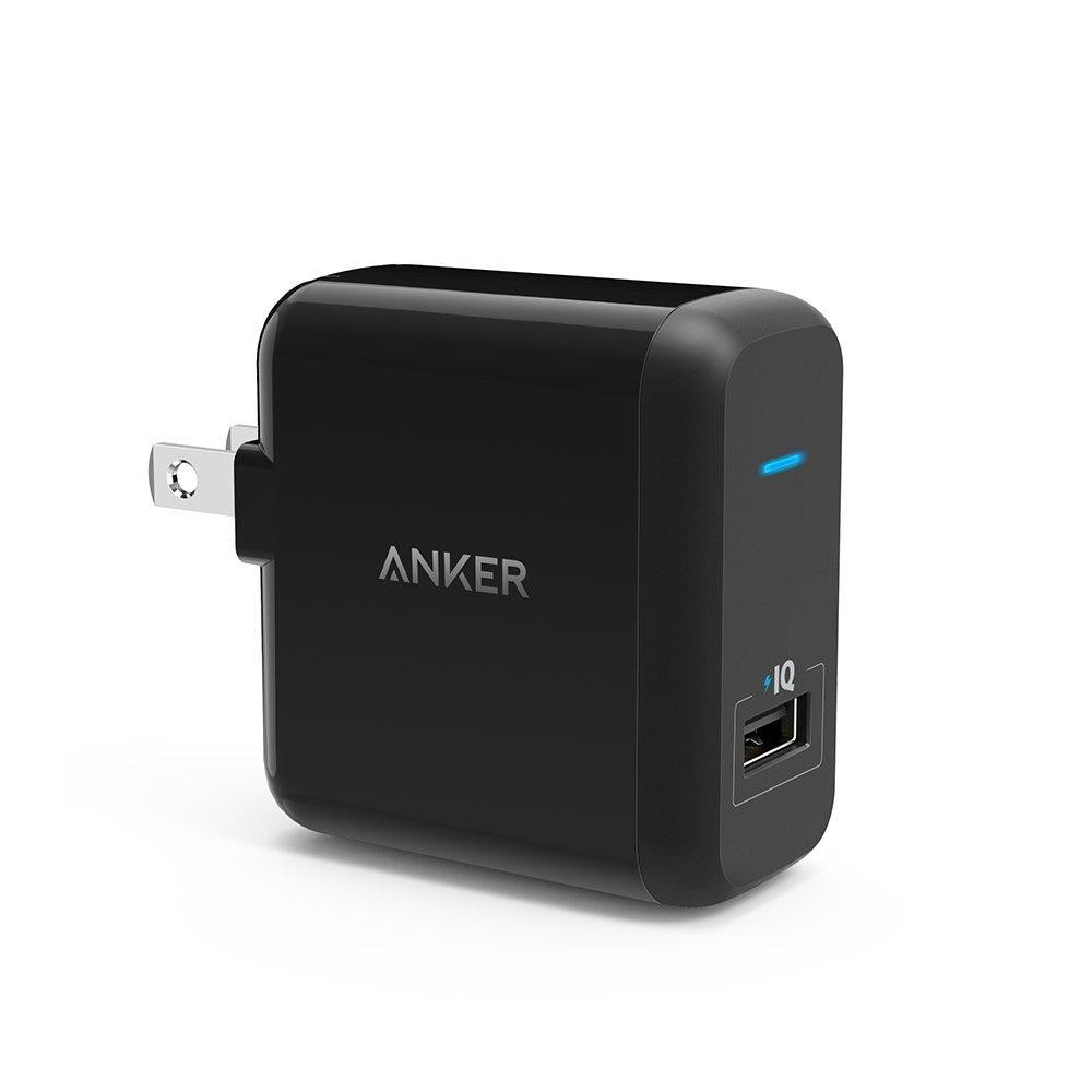Anker PowerPort+ 1 (Quick Charge 2.0 and PowerIQ Technology 2-in-1 18W USB Wall Charger)
