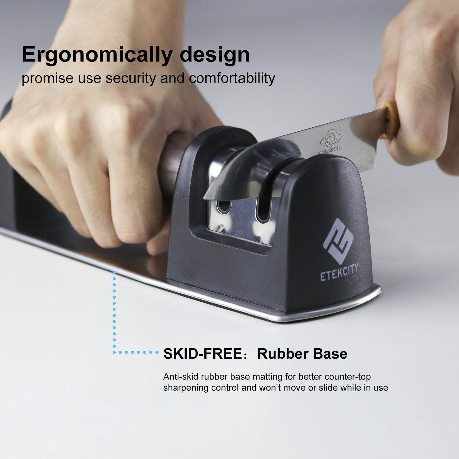 Etekcity Knife Sharpener: 2 Stage, Stable Skid-Free Grip