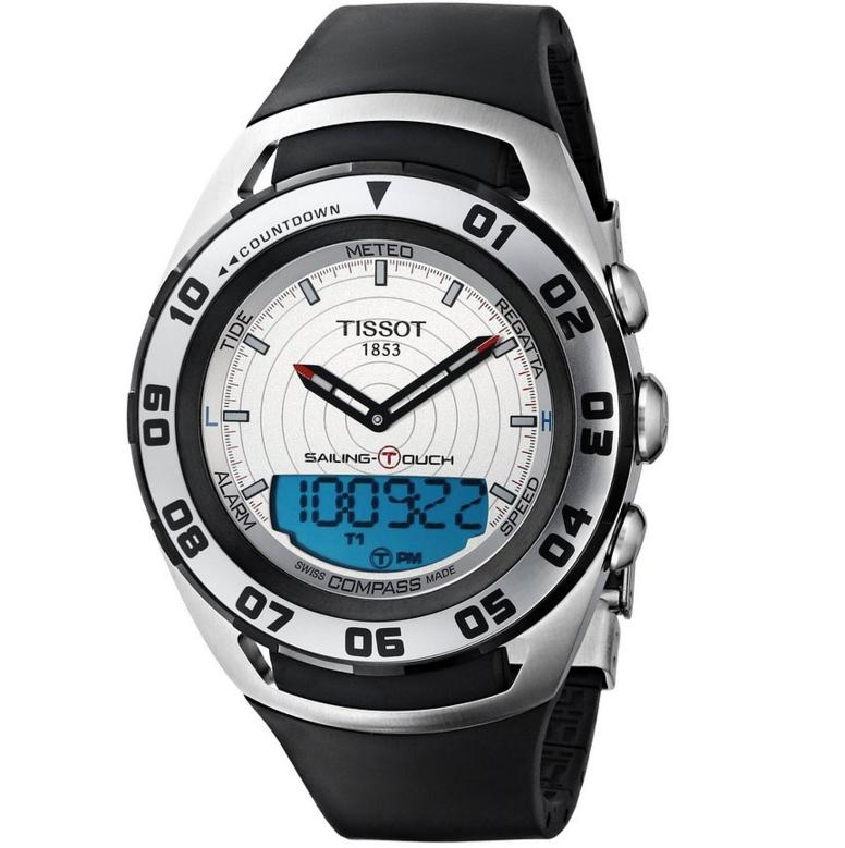 Tissot Men's 'Sailing-Touch' Silver Face Multi-function Watch