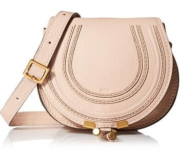 Chloé Marcie Small Saddle Bag, Blush Nude @ MYHABIT
