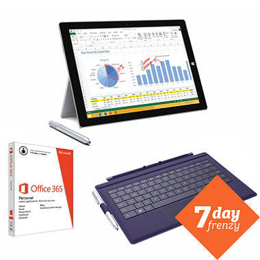 Microsoft Surface Pro 3 64GB Windows 8.1 Pro Bundle