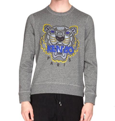 Kenzo  Embroidered Tiger Icon Crewneck Sweatshirt @ Neiman Marcus