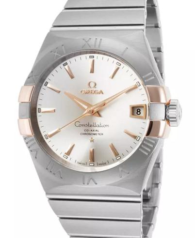 OMEGA Constellation Co-Axial Automatic Steel and Rose Gold Men's Watch
