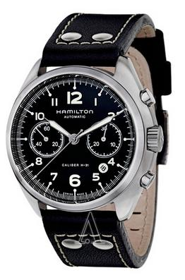 Hamilton Men's Khaki Aviation Pilot Pioneer Auto Chrono Watch H76416735 (Dealmoon Exclusive)
