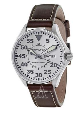 Hamilton Men's Khaki Aviation Pilot Auto Watch H64425555 (Dealmoon Exclusive)