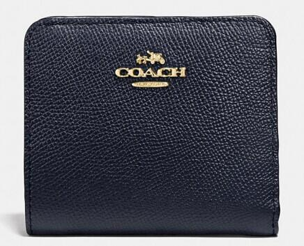 SMALL wallet in colorblock leather @ Coach