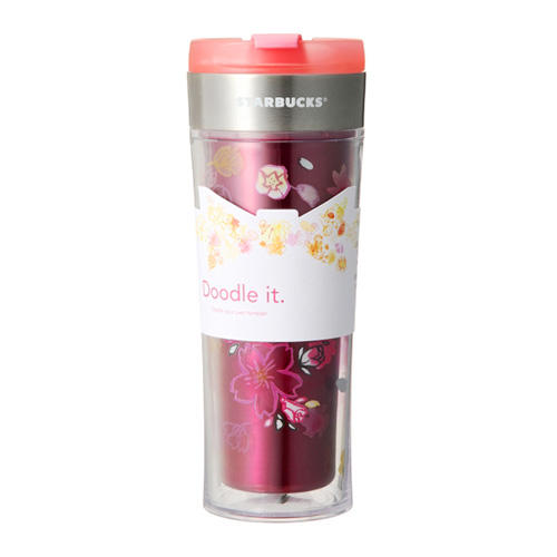 STARBUCKS Doodle It Stainless Steel Tumbler 470ml Japan Limited