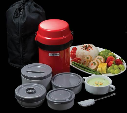 ZOJIRUSHI Mr. Bento® Stainless Lunch Jar SL-JAE14 Apple Red