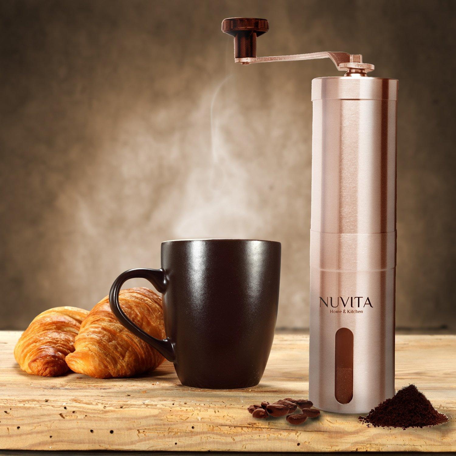 $10.95 Nuvita Manual Burr Coffee Grinder