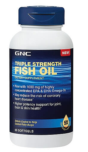 $9.99 GNC Triple Strength Fish Oil - New Improved Formula of Triple Strength Fish Oil 1500 60 softgels