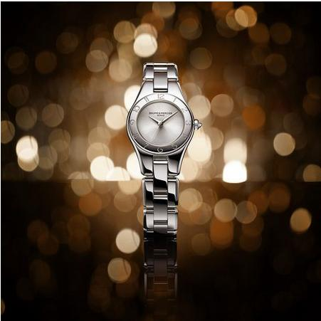 Extra $400 Off Baume et Mercier Linea Silver Dial Stainless Steel Ladies Watch MOA10138