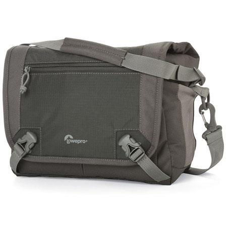 Lowepro Nova Sport 17L AW Shoulder Bag for DSLR with Attached Lens, Slate Gray