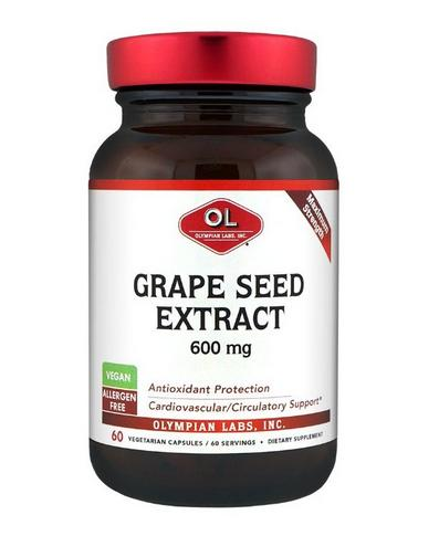 Olympian Labs Grape Seed Supplement, 600 mg, 60 Capsules