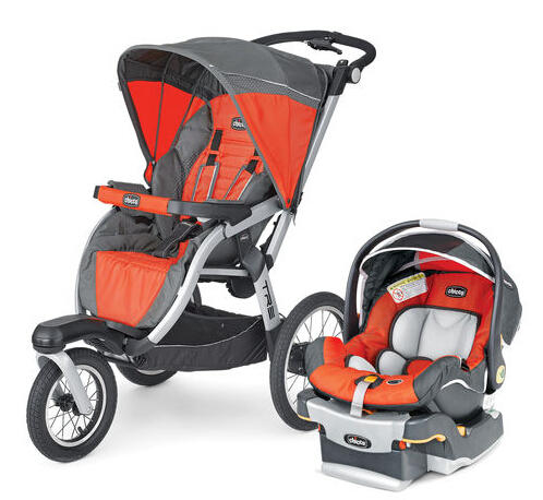 Chicco Tre Jogging Stroller + Free Keyfit 30 Infant Car Seat Bundle