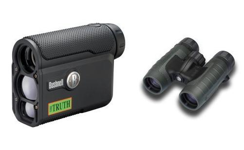 Bushnell Optics Bundle: The Truth ARC 4x20mm Rangefinder + Trophy XLT Roof Prism 8x32mm Binoculars
