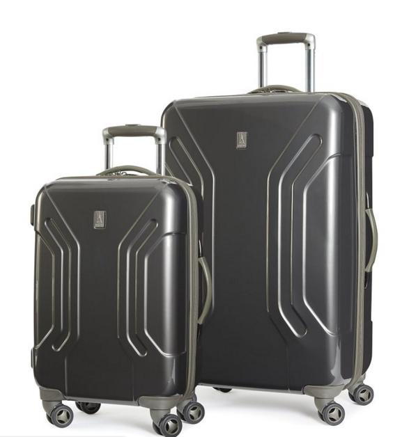 Travelpro Inflight Lite Hardside Spinner 2 Piece Set, Gunmetal Gray