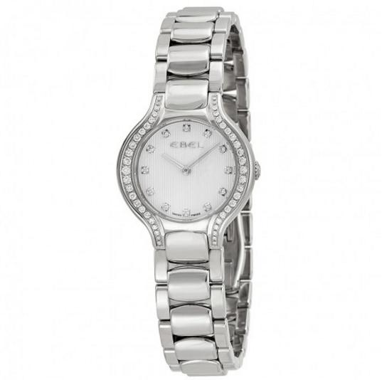 EBEL New Beluga Mini Silver Dial Stainless Steel Bracelet Ladies Watch