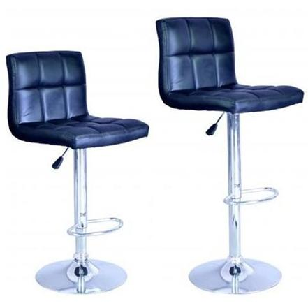 New Modern Adjustable Synthetic Leather Swivel Bar Stools Chairs B06 - Sets of 2