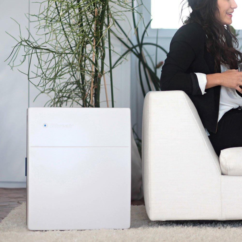 Blueair 203 Slim HepaSilent Air-Purification System, White