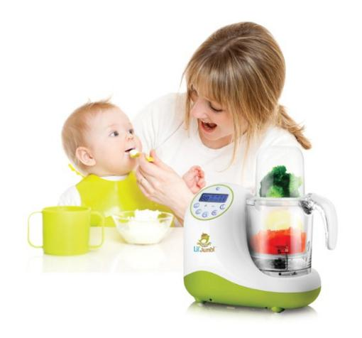 Lil' Jumbl MealPro All-in-One Baby Food Blender, Steamer & Reheater - Also Safely Warms & Sterilizes Bottles & Pacifiers