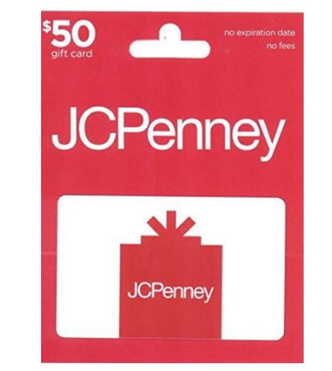 $40 $50 JCPenney Gift Card