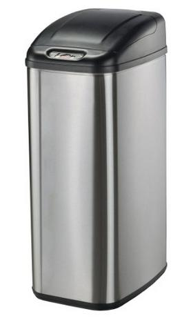 Nine Stars DZT-50-6 Infrared Touchless Stainless Steel Trash Can, 13.2-Gallon