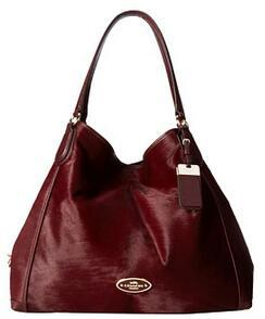 COACH Haircalf Large Edie Shoulder Bag