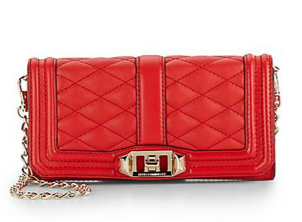 Rebecca Minkoff Mini Love Quilted Leather Convertible Clutch