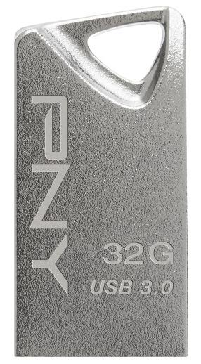 PNY Mini Metal 32GB USB 3.0 Type A Flash Drive Silver