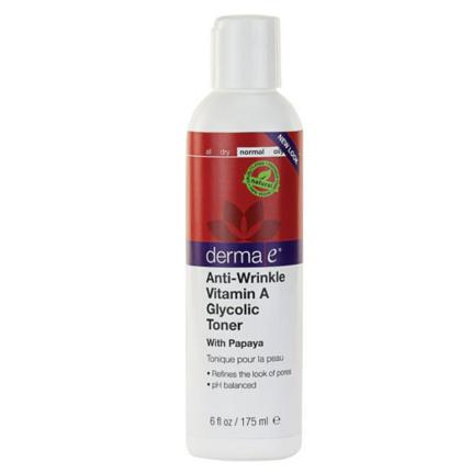 $8.36 derma e Anti-Wrinkle Vitamin A Glycolic Toner , 6-Ounce