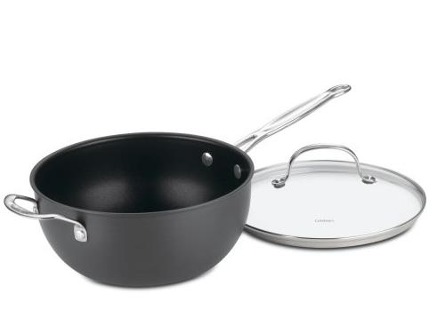 Cuisinart 6354-24H Chef's Classic Nonstick Hard-Anodized 4-Quart Chef's Pan with Helper Handle and Glass Cover @ Amazon
