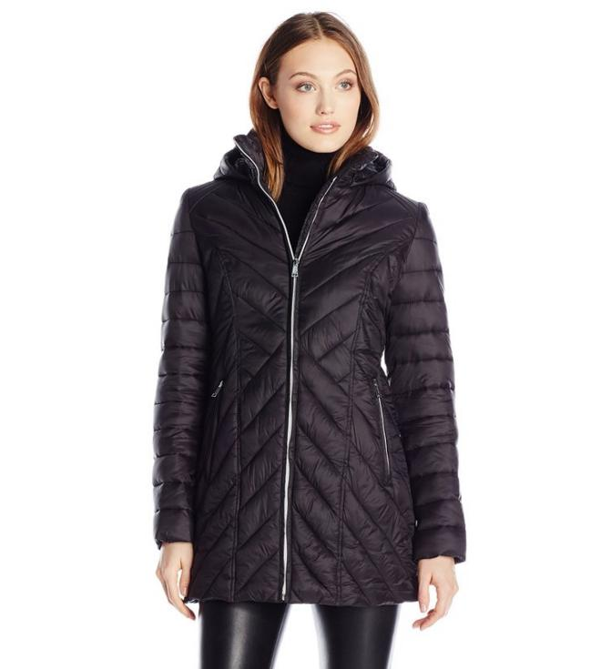 Nautica Women's Wellon Jacket with Hood@Amazon.com