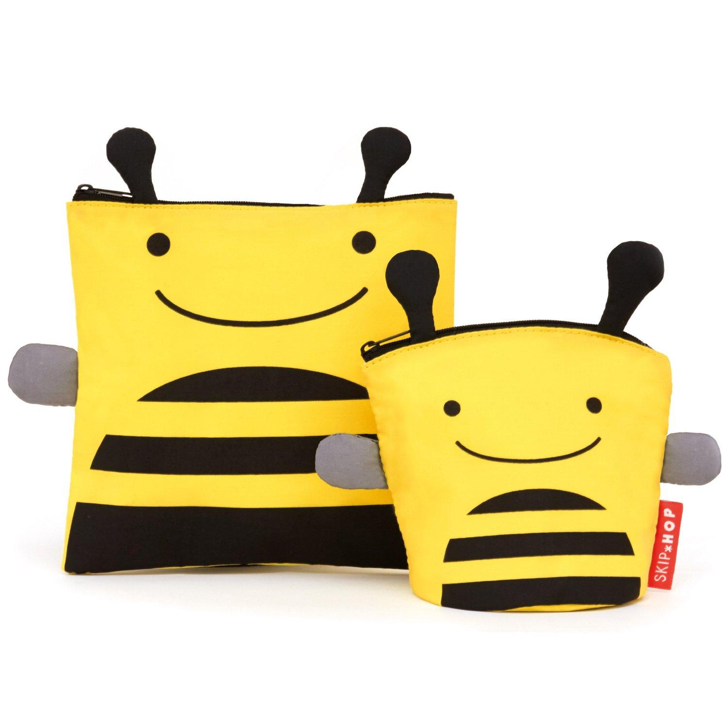 Skip Hop Zoo Reusable Sandwich and Snack Bag Set