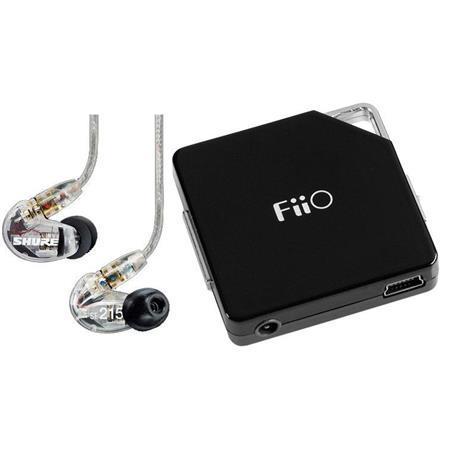 Shure SE215 Earphones + Fiio E6 Headphone Amplifier