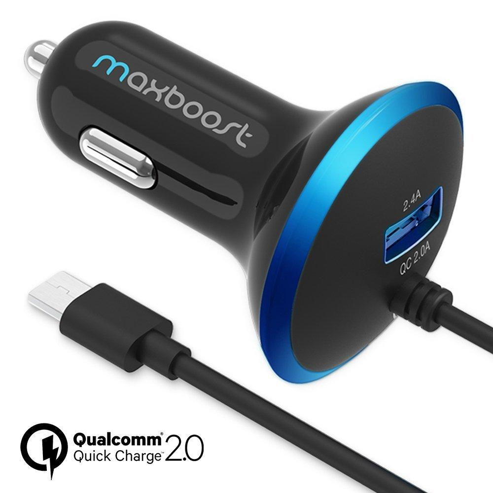 $8 Maxboost 30W Dual Output Quick Charge 2.0 USB Car Charger