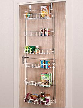 $11.99 5' Overdoor Storage Basket Rack