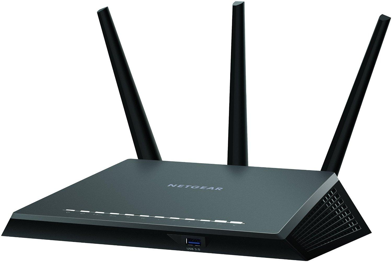 NETGEAR Nighthawk AC1900 Dual Band Wi-Fi Gigabit Router (R7000) with Open Source Support